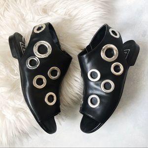 Eeight by Miista Studded Black Sandals